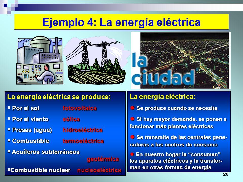 Ejemplo 4: La energía eléctrica