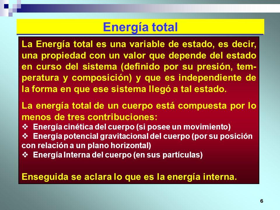 Energía total