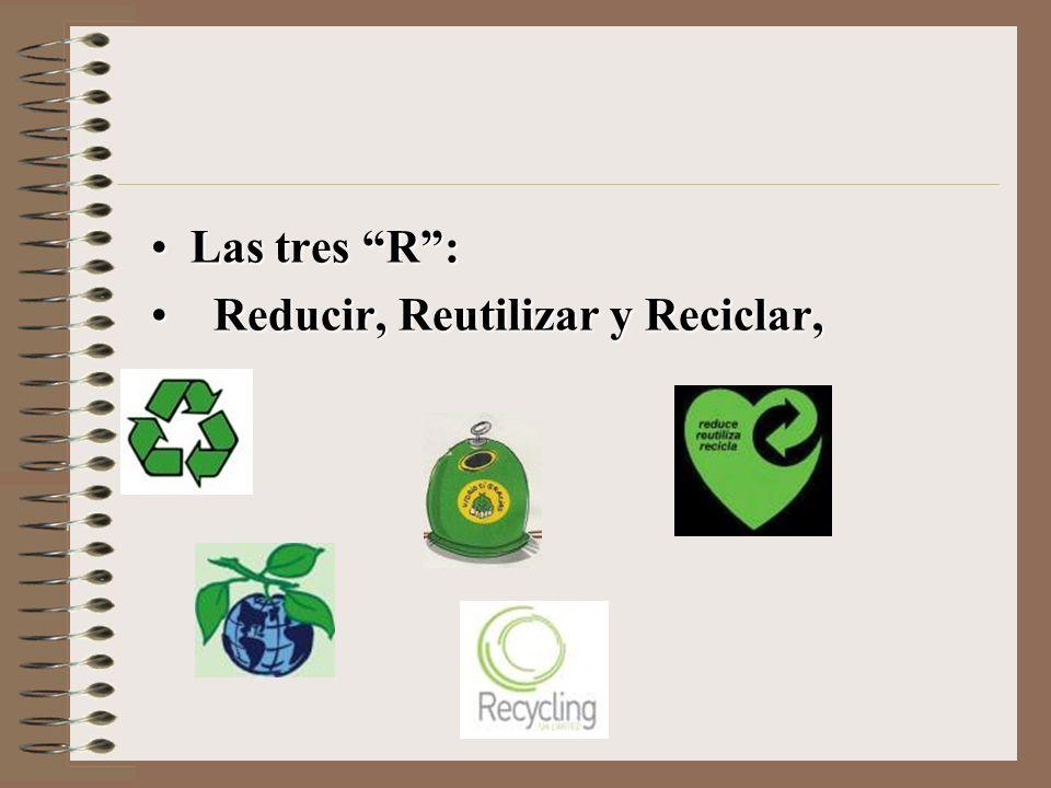 Reducir, Reutilizar y Reciclar,