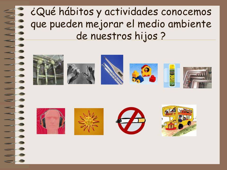 ¿Qué hábitos y actividades conocemos que pueden mejorar el medio ambiente de nuestros hijos