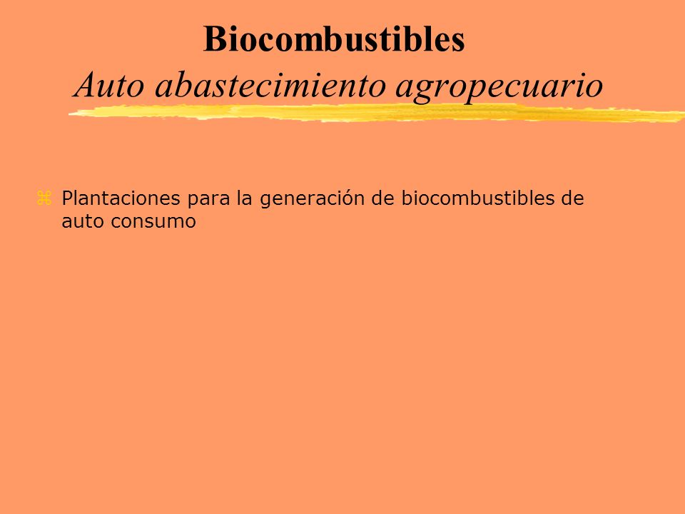 Biocombustibles Auto abastecimiento agropecuario