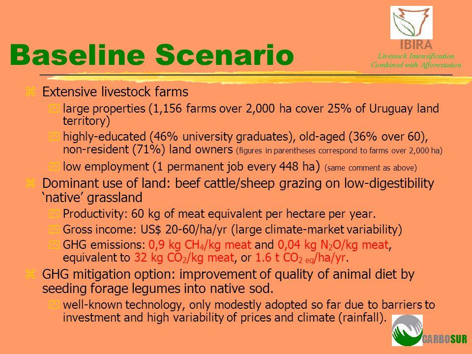 Baseline Scenario Extensive livestock farms