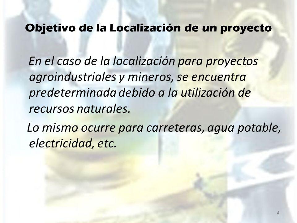 Objetivo de la Localización de un proyecto