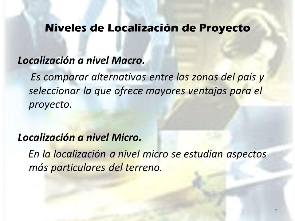 Niveles de Localización de Proyecto