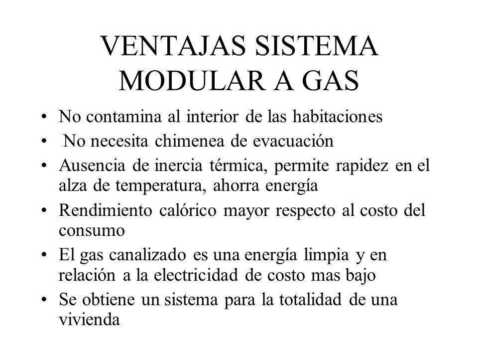 VENTAJAS SISTEMA MODULAR A GAS