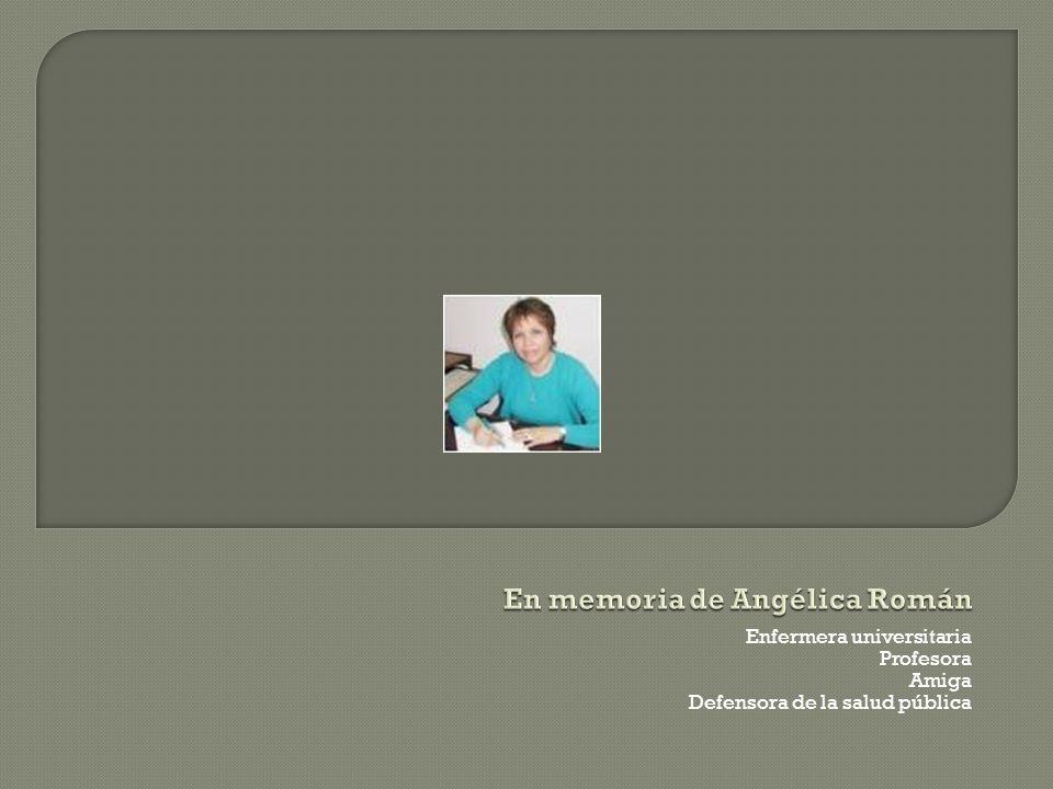 En memoria de Angélica Román