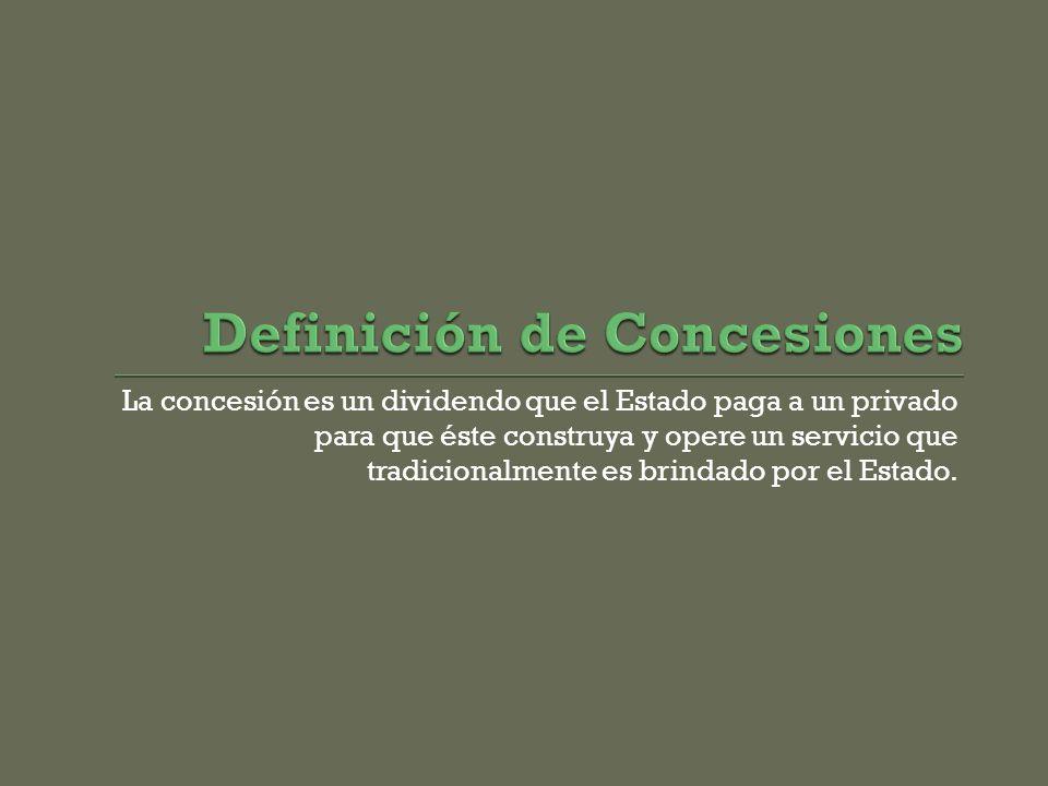 Definición de Concesiones