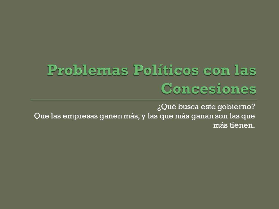 Problemas Políticos con las Concesiones
