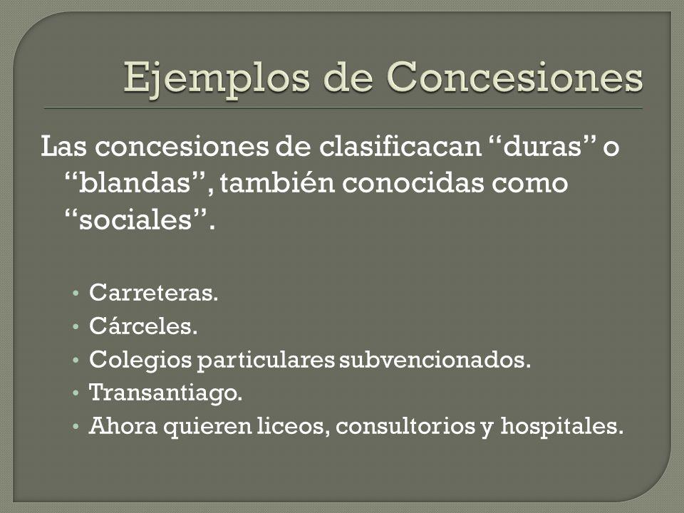 Ejemplos de Concesiones