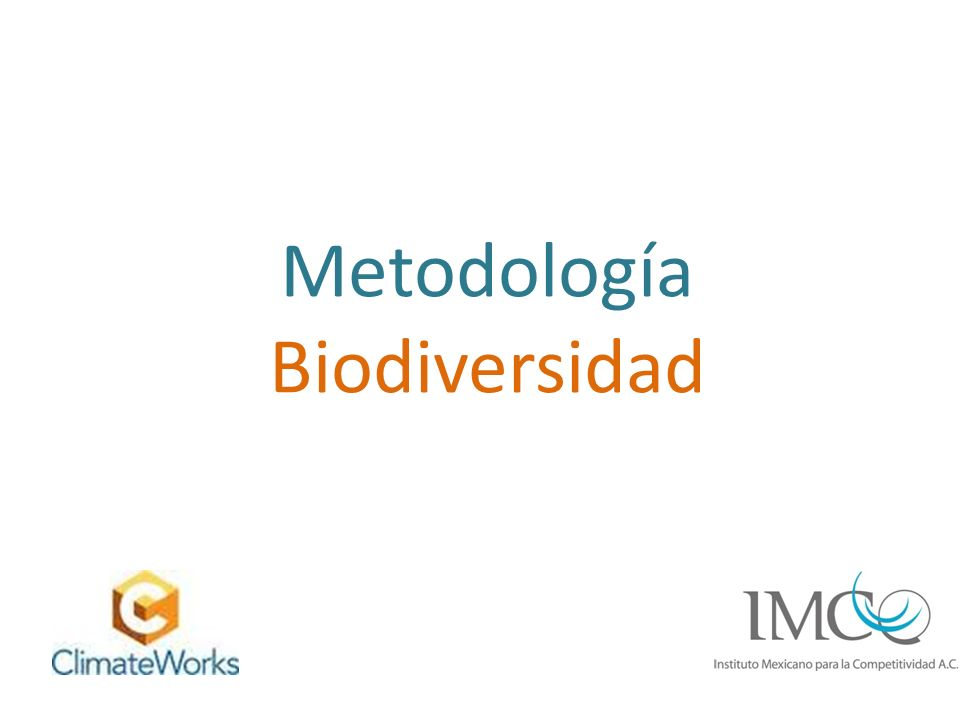 Metodología Biodiversidad