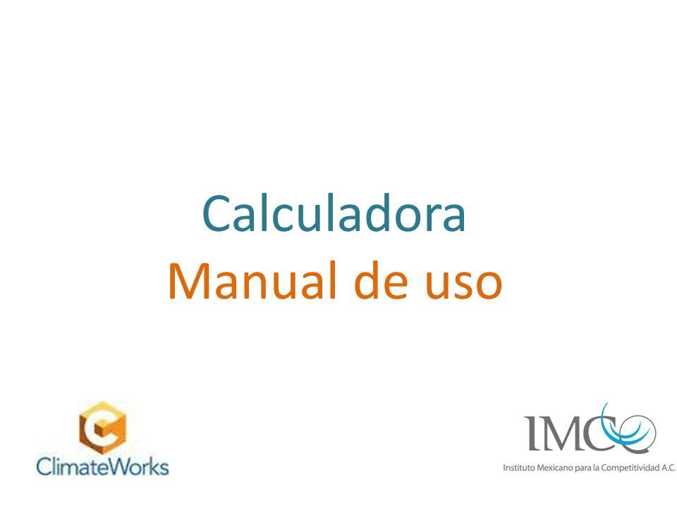 Calculadora Manual de uso
