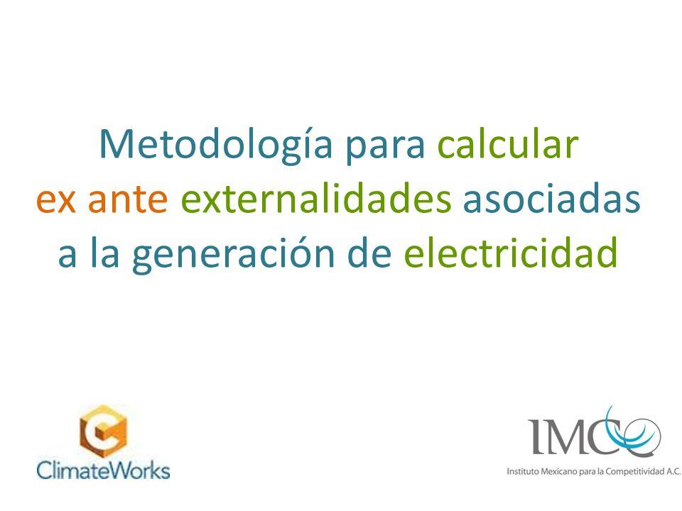 Metodología para calcular ex ante externalidades asociadas a la generación de electricidad