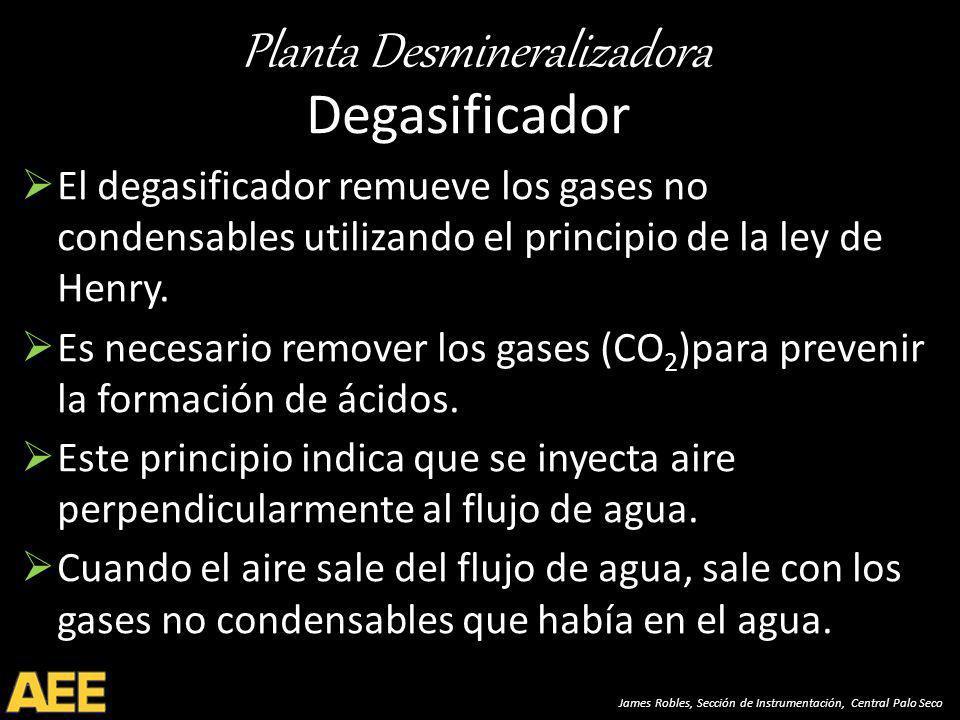 Degasificador El degasificador remueve los gases no condensables utilizando el principio de la ley de Henry.