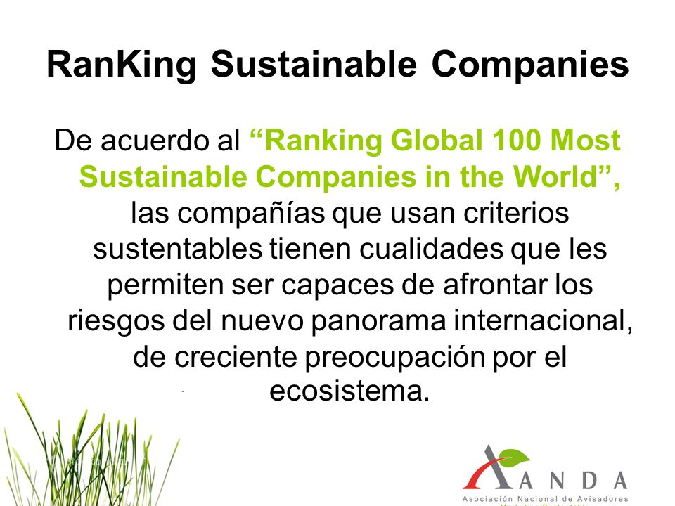 RanKing Sustainable Companies