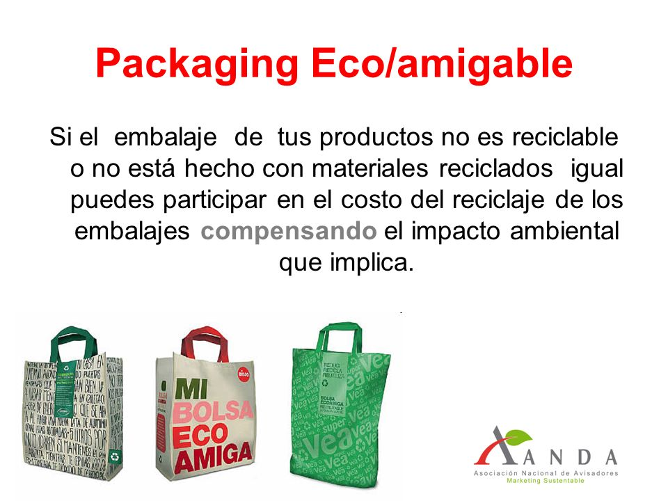 Packaging Eco/amigable