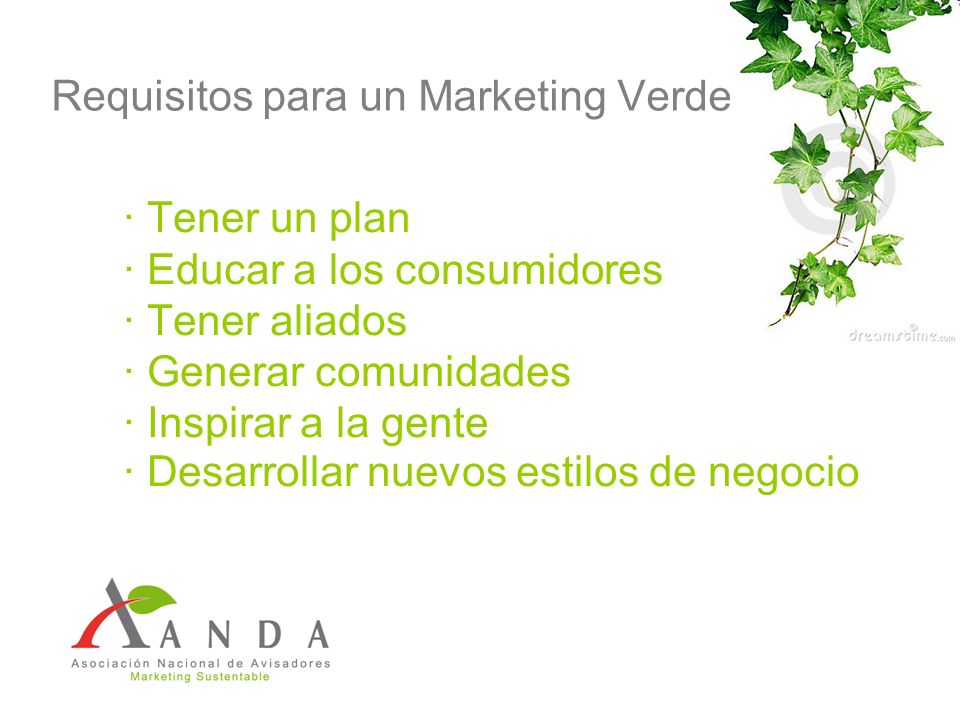 Requisitos para un Marketing Verde