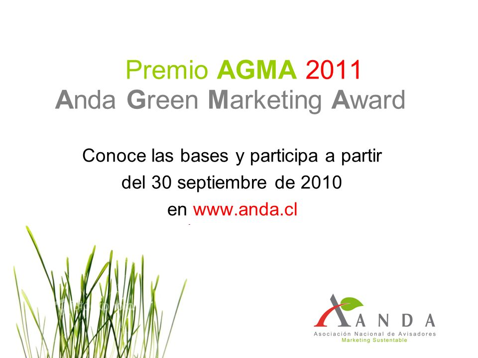 Premio AGMA 2011 Anda Green Marketing Award