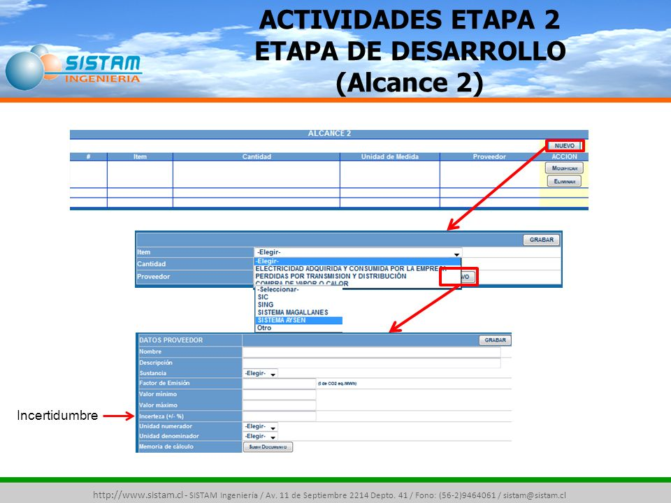 ACTIVIDADES ETAPA 2 ETAPA DE DESARROLLO (Alcance 2)
