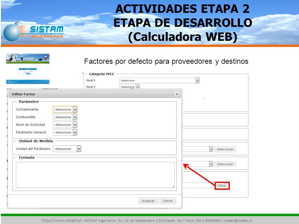 ACTIVIDADES ETAPA 2 ETAPA DE DESARROLLO (Calculadora WEB)