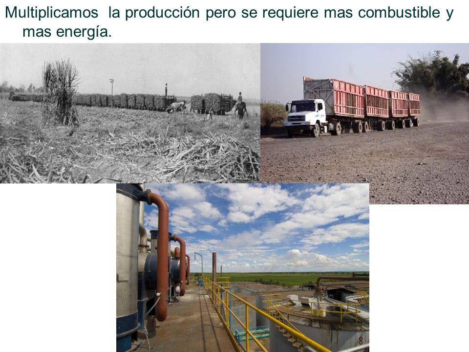 Multiplicamos la producción pero se requiere mas combustible y mas energía.