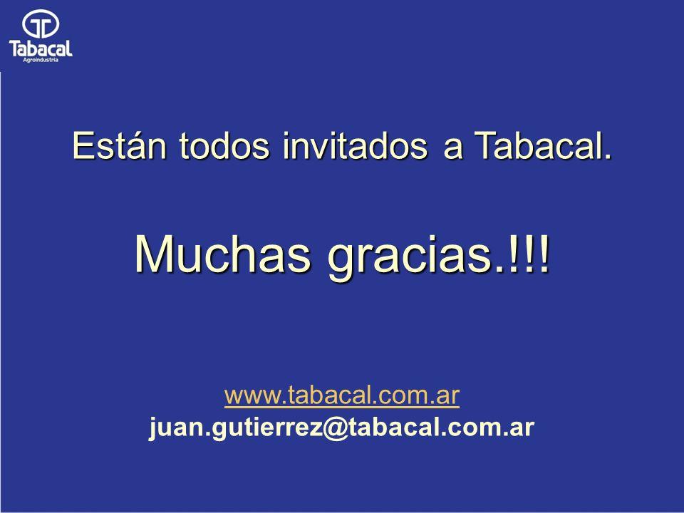 Están todos invitados a Tabacal. Muchas gracias.!!!