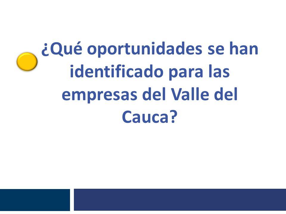 ¿Qué oportunidades se han identificado para las empresas del Valle del Cauca