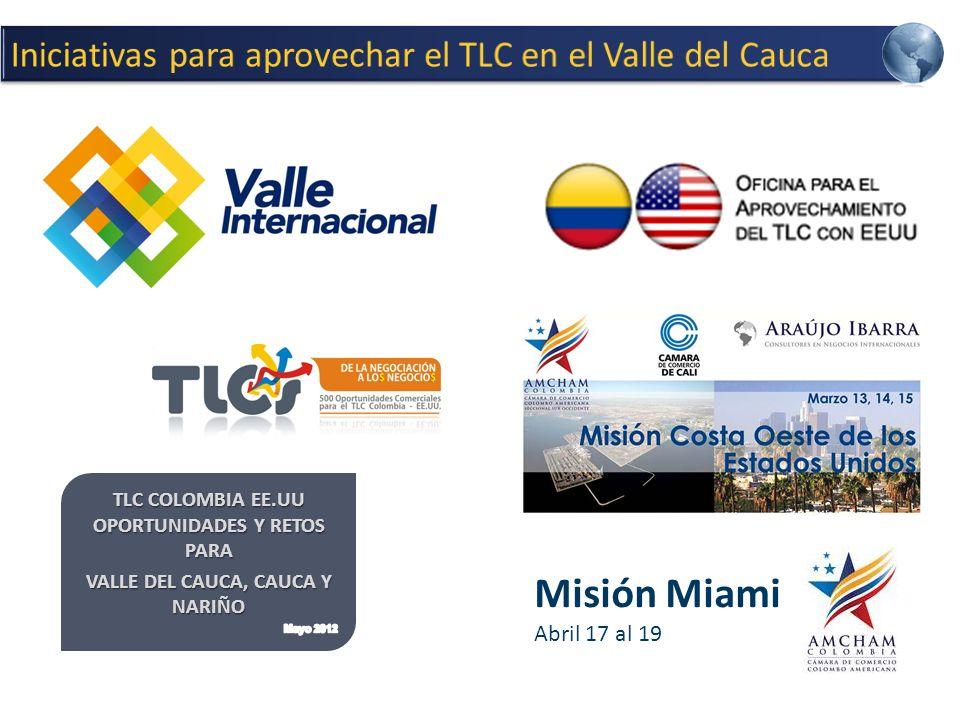 Misión Miami Iniciativas para aprovechar el TLC en el Valle del Cauca