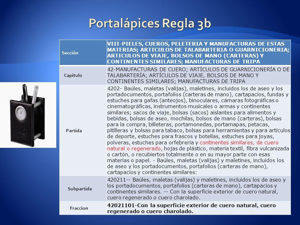 Portalápices Regla 3b Sección.