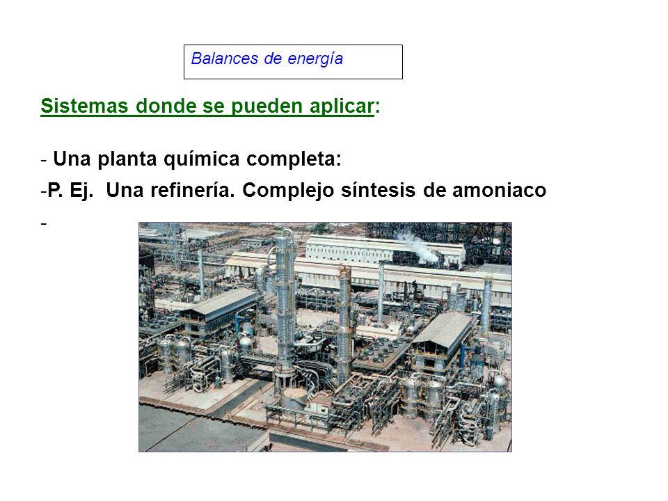 Sistemas donde se pueden aplicar: Una planta química completa:
