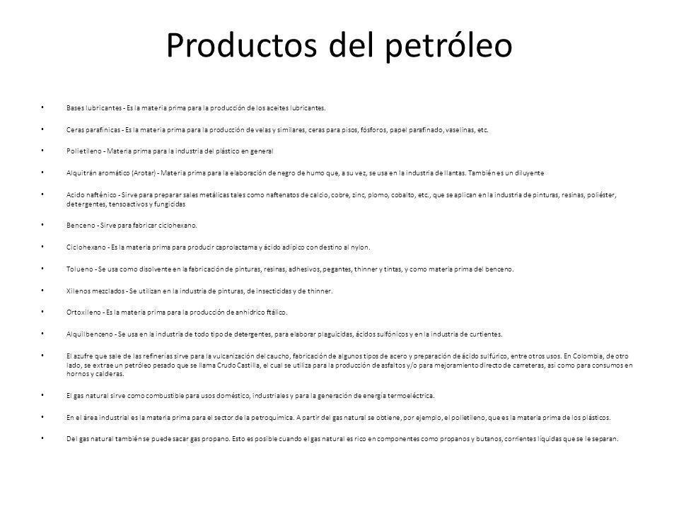 Productos del petróleo