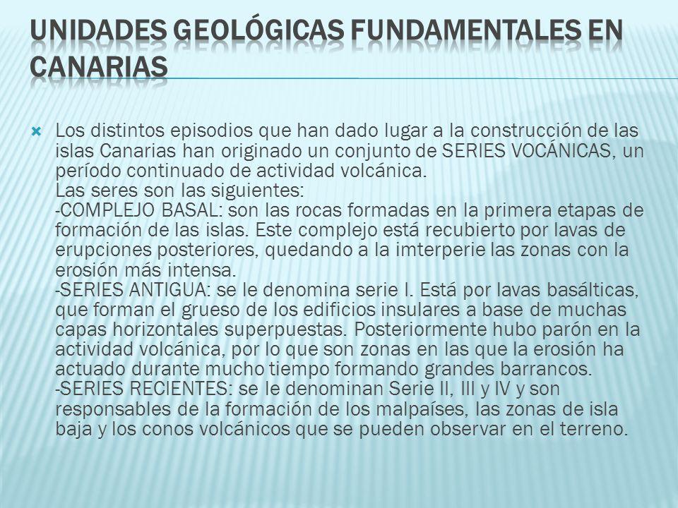UNIDADES GEOLÓGICAS FUNDAMENTALES EN CANARIAS