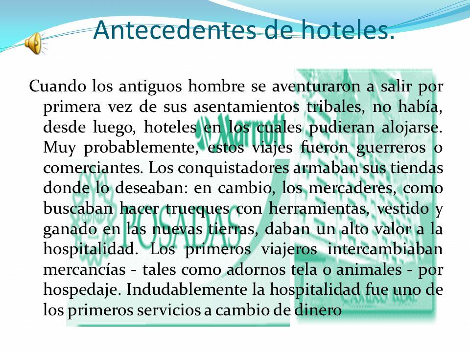 Antecedentes de hoteles.