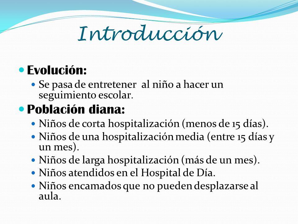 Introducción Evolución: Población diana: