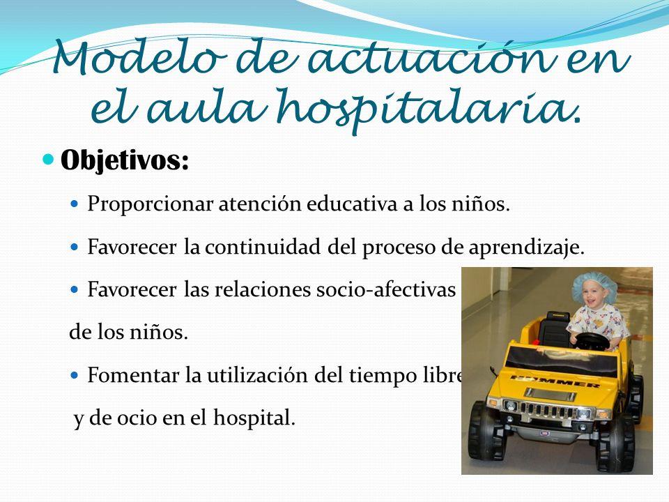 Modelo de actuación en el aula hospitalaria.