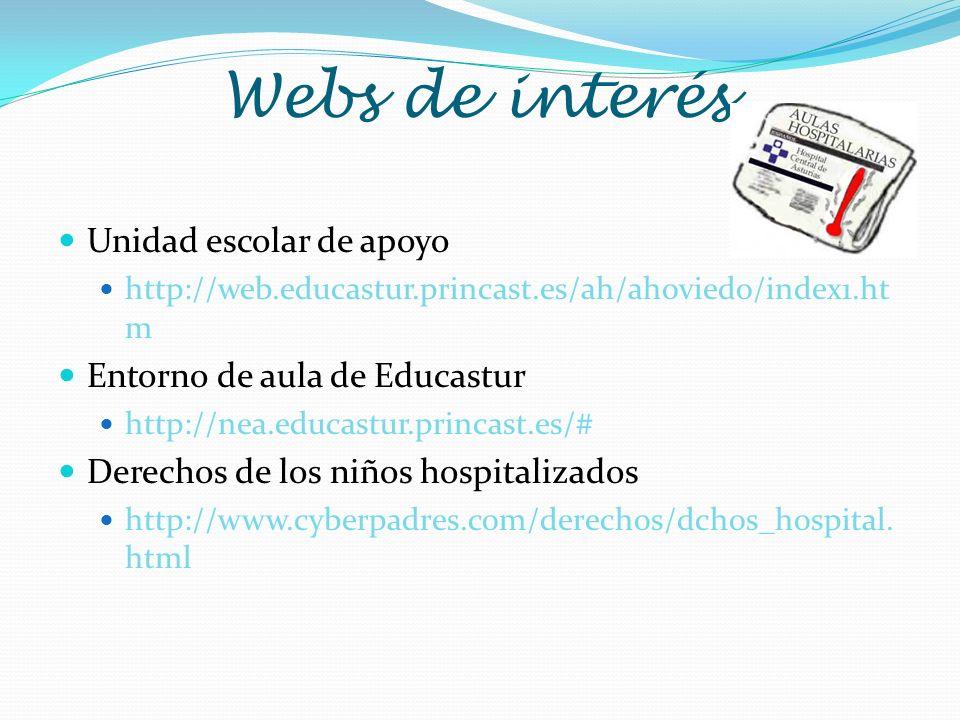 Webs de interés Unidad escolar de apoyo Entorno de aula de Educastur