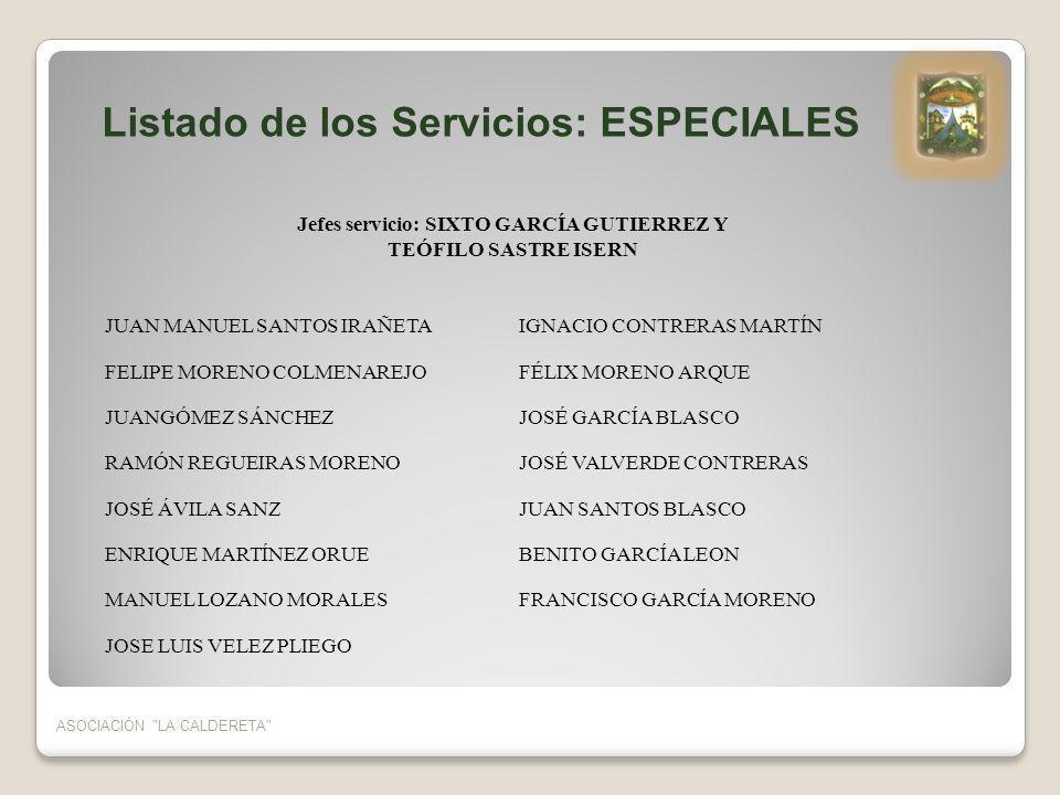 Jefes servicio: SIXTO GARCÍA GUTIERREZ Y