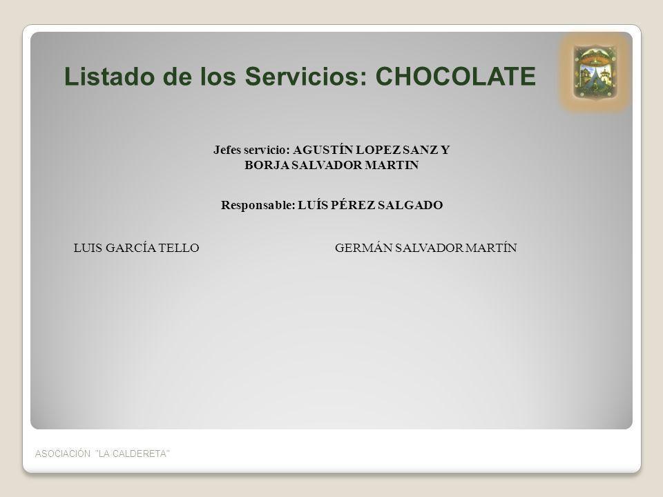 Jefes servicio: AGUSTÍN LOPEZ SANZ Y Responsable: LUÍS PÉREZ SALGADO