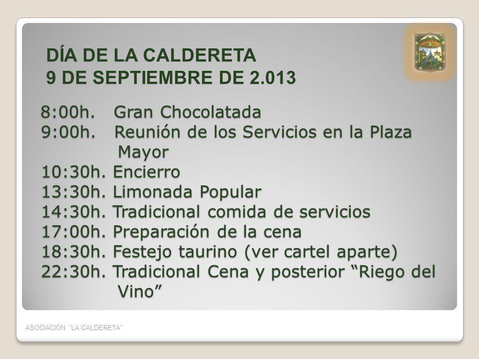 DÍA DE LA CALDERETA 9 DE SEPTIEMBRE DE 2.013