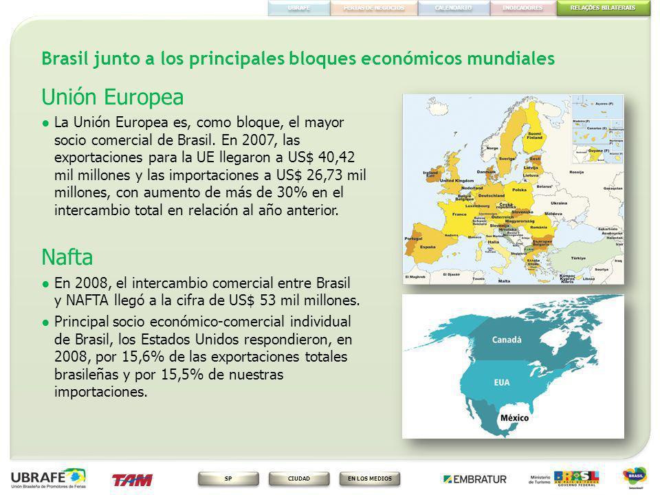 Brasil junto a los principales bloques económicos mundiales