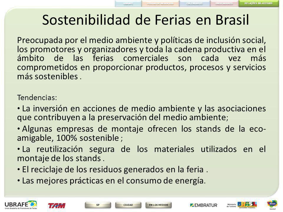 Sostenibilidad de Ferias en Brasil