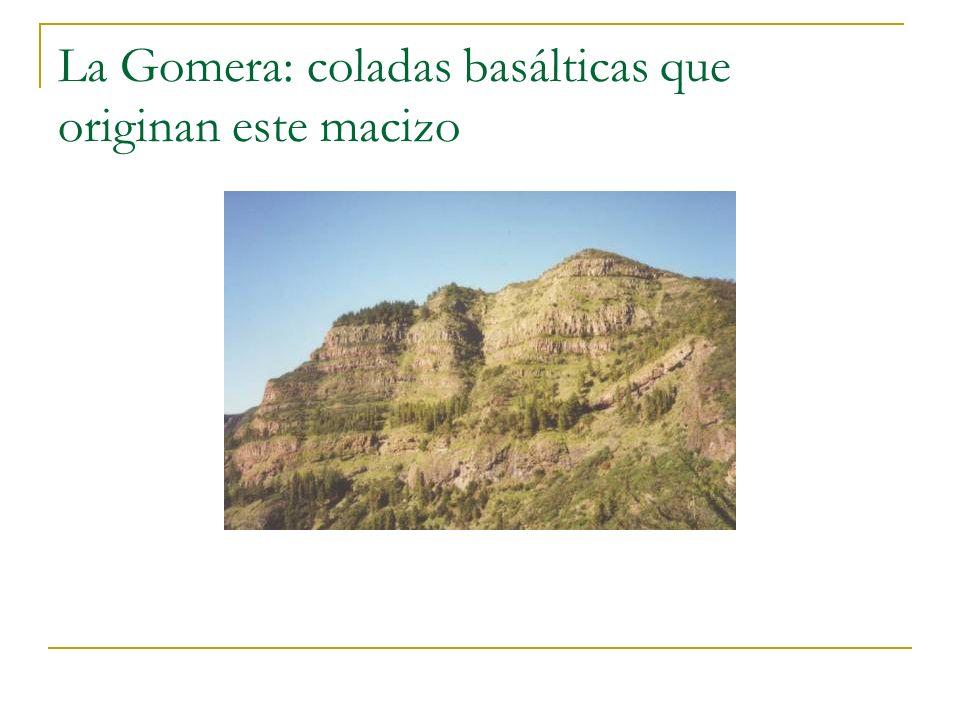 La Gomera: coladas basálticas que originan este macizo