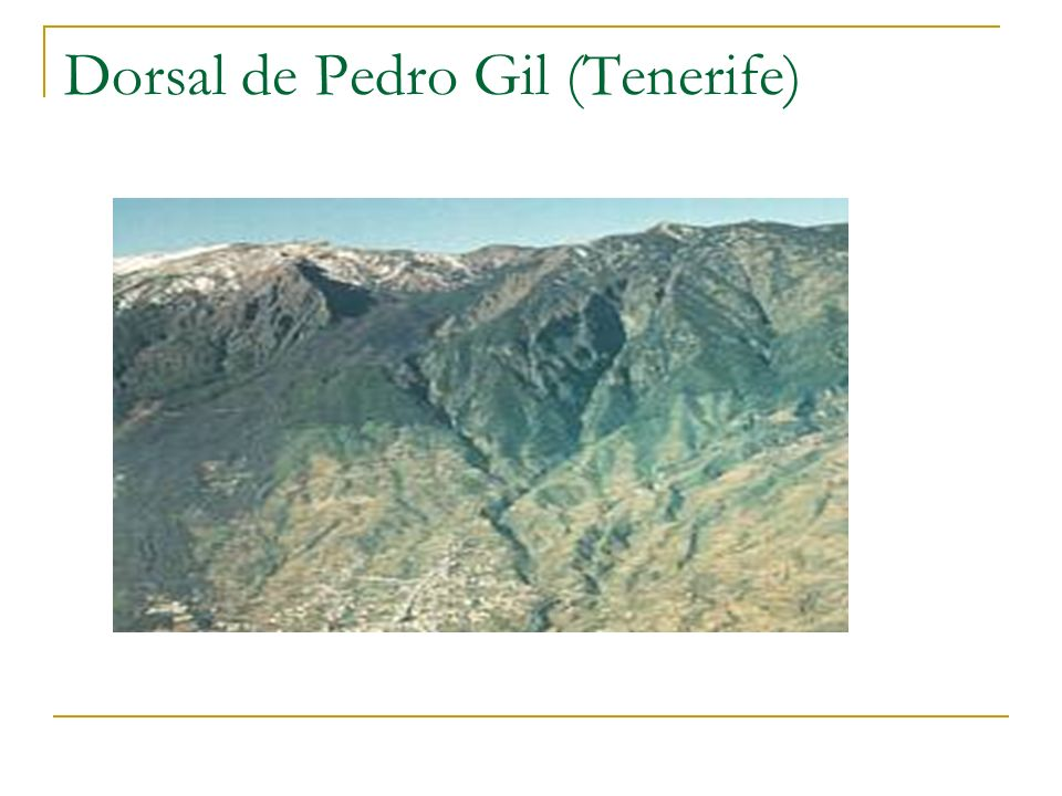 Dorsal de Pedro Gil (Tenerife)
