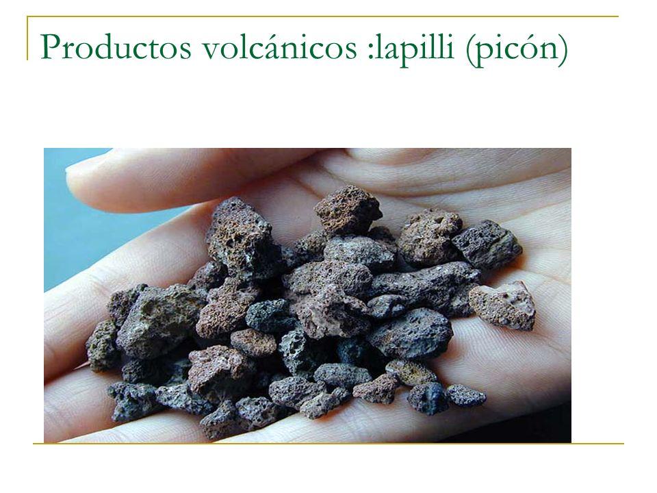 Productos volcánicos :lapilli (picón)