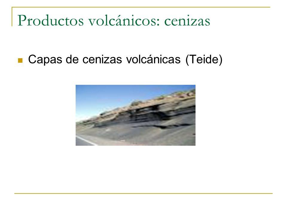 Productos volcánicos: cenizas