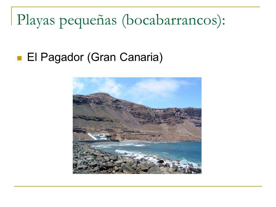 Playas pequeñas (bocabarrancos):