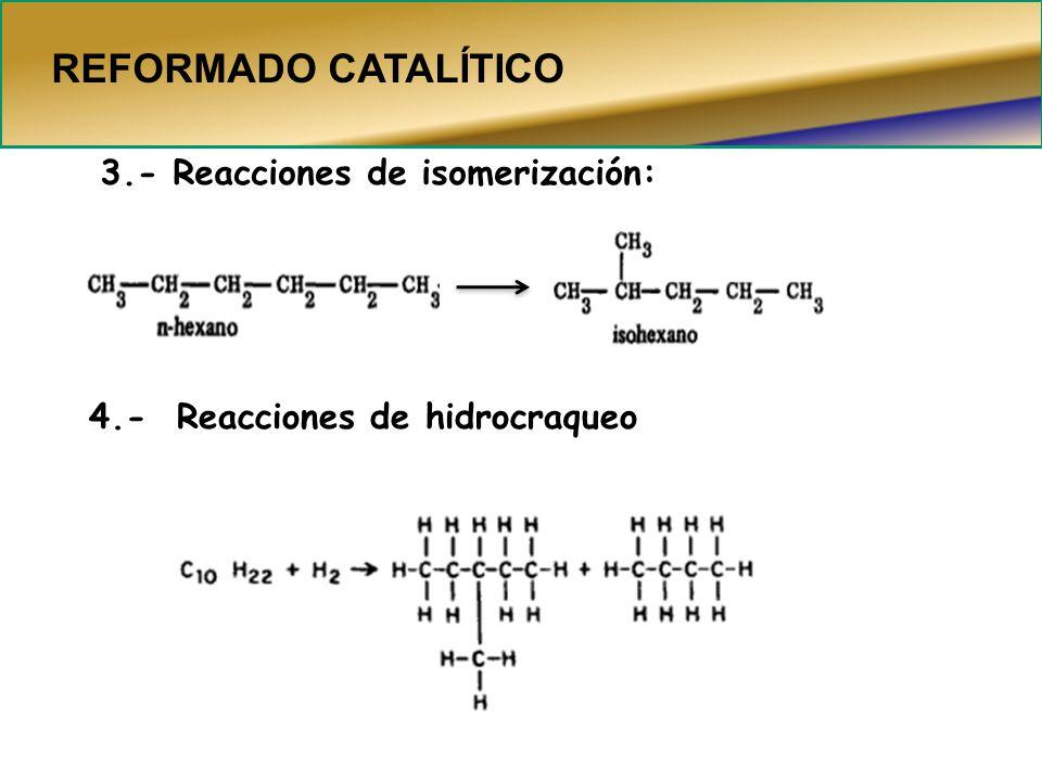 REFORMADO CATALÍTICO 3.- Reacciones de isomerización: