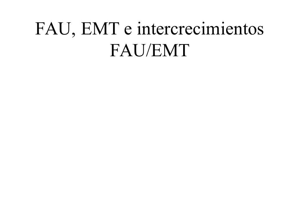 FAU, EMT e intercrecimientos FAU/EMT