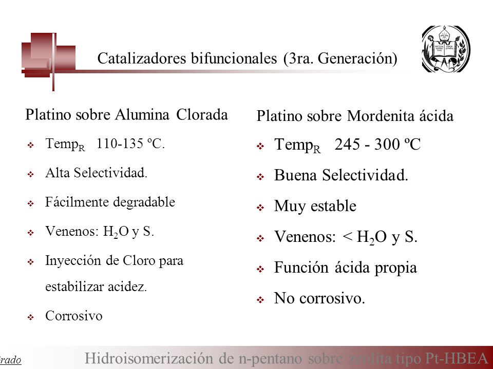 Catalizadores bifuncionales (3ra. Generación)