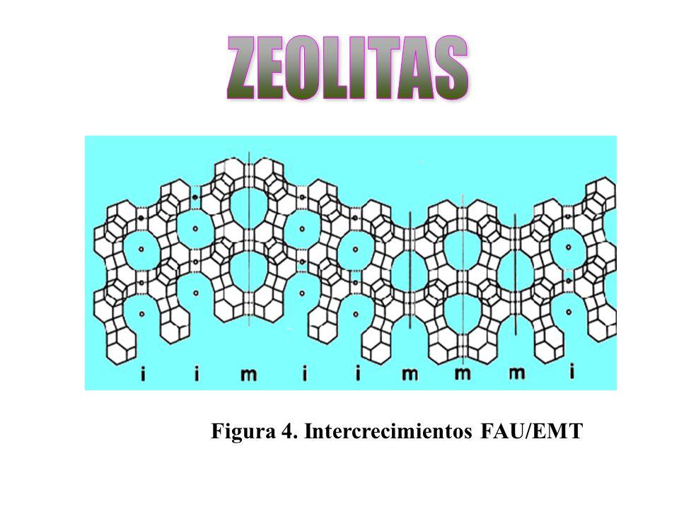 ZEOLITAS Figura 4. Intercrecimientos FAU/EMT