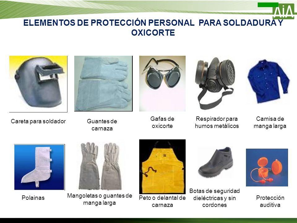 ELEMENTOS DE PROTECCIÓN PERSONAL PARA SOLDADURA Y OXICORTE